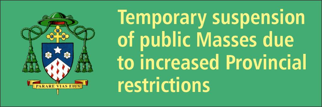 Temporary Suspension of Public Masses